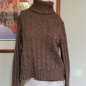 Ann Taylor chunky cable knit turtleneck sweater
